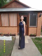 Продам или дам на прокат длинное,  синее вечернее платье. Торг уместен.