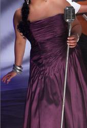 Великолепное драпированное платье из тафты на корсете