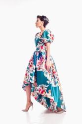 Вечернее платье с каскадной юбкой в Алматы