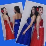 Вечернее платье в красном цвете